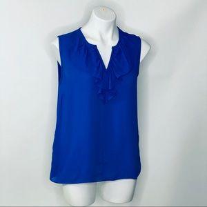 NWOT Kate Spade Blue Blouse w ruffles sz 8